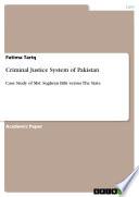 Criminal Justice System Of Pakistan