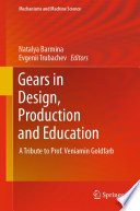 Gears in Design  Production and Education