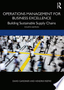 Operations Management for Business Excellence Book