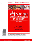 Human Communication in Society, Books a la Carte Edition