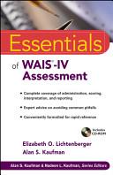 Essentials of WAIS IV Assessment Book