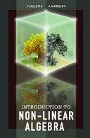 Introduction To Non-linear Algebra [Pdf/ePub] eBook