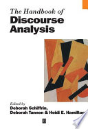 The Handbook Of Discourse Analysis Book