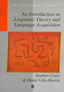An Introduction to Linguistic Theory and Language Acquisition