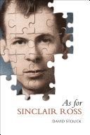 As For Sinclair Ross [Pdf/ePub] eBook