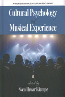 Cultural Psychology of Musical Experience Book PDF