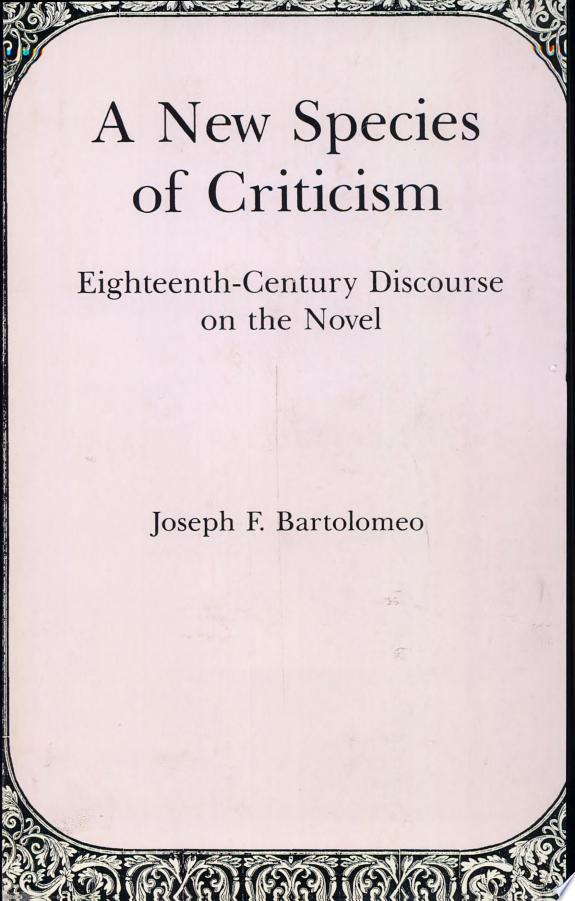 A New Species of Criticism