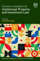 Pdf Research Handbook on Intellectual Property and Investment Law Telecharger