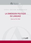 Pdf La dimension politique du langage Telecharger
