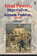 Pdf The Great Powers, Imperialism, and the German Problem, 1865-1925