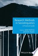 Research Methods in Sociolinguistics