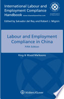 Labour and Employment Compliance in China Book