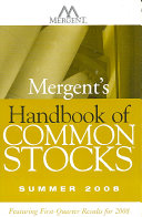 Mergent's Handbook of Common Stocks Summer 2008