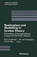 Realization and Modelling in System Theory