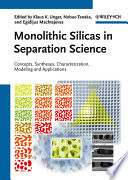 Monolithic Silicas In Separation Science Book PDF