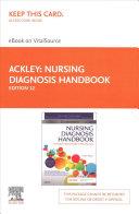 Nursing Diagnosis Handbook Elsevier Ebook On Vitalsource Retail Access Card