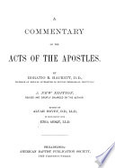 A Commentary On The Acts Of The Apostles