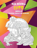 Zen Doodle Coloring Books For Kids Animals Cats Book PDF