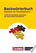 Basiswörterbuch Deutsch als Fremdsprache