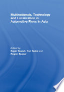 Multinationals  Technology and Localization in Automotive Firms in Asia Book