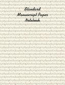 Standard Manuscript Paper Notebook