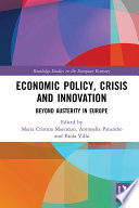 Economic Policy  Crisis and Innovation