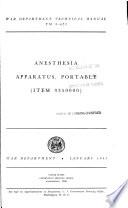 Anesthesia Apparatus, Portable (item 9350000)