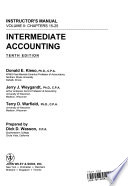 Instructor's manual, Intermediate accounting, tenth edition, Donald E. Kieso, Jerry J. Weygandt, Terry D. Warfield
