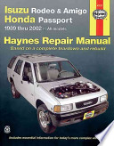Haynes Isuzu Rodeo, Amigo & Honda Passport, 1989 thru 2002