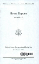 United States Congressional Serial Set, Serial No. 14923, House Reports Nos. 690-723