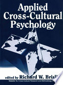 Applied Cross Cultural Psychology Book PDF