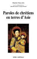 Pdf Paroles de chrétiens en terres d'Asie Telecharger