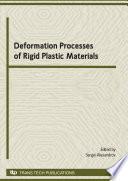 Deformation Processes of Rigid Plastic Materials