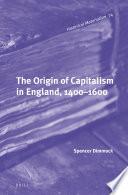 The Origin Of Capitalism In England 1400 1600 Book
