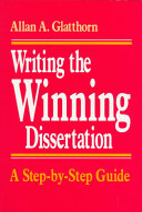 Writing The Winning Dissertation
