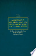 Management Valuation And Risk For Human Capital And Human Assets