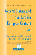 General Clauses and Standards in European Contract Law