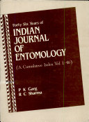Forty six Years of Indian Journal of Entomology