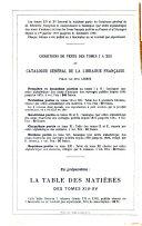 Catalogue général de la librairie française: 1891-1899