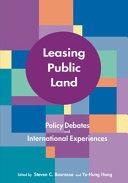 Leasing Public Land