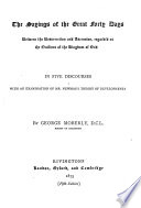 Sayings of the Great Forty Days Between the Resurrection & Ascension