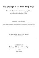 Sayings of the Great Forty Days Between the Resurrection   Ascension