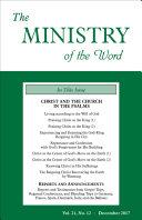 The Ministry of the Word, Vol 21, No. 12 Pdf/ePub eBook
