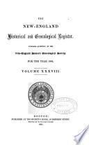The New England Historicaland Genealogical Register