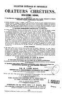 Collection intégrale et universelle des orateurs sacrés du premier et du second ordre