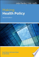 Ebook Making Health Policy