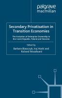 Secondary Privatization in Transition Economies [Pdf/ePub] eBook