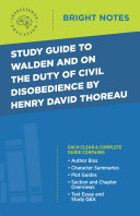 Study Guide to Walden and On the Duty of Civil Disobedience by Henry David Thoreau Pdf/ePub eBook