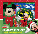 Disney Junior Mickey Mouse Clubhouse  Let It Snow  Holiday Gift Set  Book and Mickey Plush