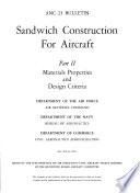 Sandwich Construction for Aircraft  Materials properties and design criteria Book